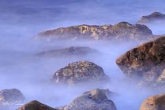 Warm Stones - Cool Sea_MG_1221 (Alfred J. Lockwood Photography) Tags: alfredjlockwood nature seascape boulders rocks waves serene sea pacificocean pacificcoast southerncalifornia palosverdes morning dawn redwhiteandblue moody winter