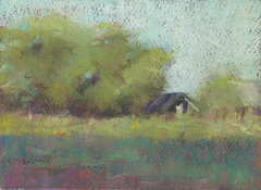 Afternoon (Bohdan Tymo) Tags: pastels painting green soft landscape