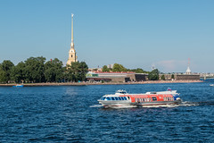 July Postcard 2018 - Июльская открытка 2018 (Valery Parshin) Tags: russia saintpetersburg canoneos70d sigma1750mmf28exdcoshsm ngc stpetersburg church ship river neva blue sky summer