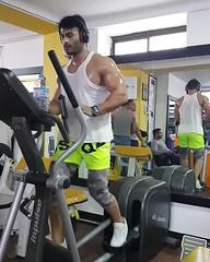136 (Glistening Man) Tags: sweat sweaty sweating man guy shiny shining shirtless body muscle muscles skin gym workout