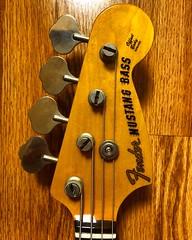 Happy Headstock (Pennan_Brae) Tags: bass electricbass fenderguitar fenderguitars fendermustang fender bassguitarist bassist bassguitar headstock fendermustangbass