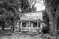 I Really Could've Used A Beer (D E Pabst Photography) Tags: beer neglected abandoned building decay wooden whitmancounty hooper store southeastwashington monochrome black white coors