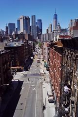 Manhattan Bridge - vue sur Downtown 3 (luco*) Tags: usa united states america étatsunis damérique new york city manhattan two bridges bridge pont vue view downtown rue street