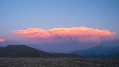 Crocodile Cloud (San Francisco Gal) Tags: cloud cumulonimbus cumulus sky crocodile cloudformation tundra rockymountainnationalpark rmnp colorado mountain sunset coth5