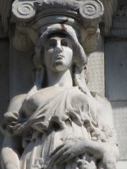Mysterious Woman Dame Spring Caryatid NYC 5425 (Brechtbug) Tags: mysterious woman dame spring caryatid stone ladies courthouse roof statues across from madison square park new york city atlantid 2018 nyc 07152018 art architecture gargoyle gargoyles statue sculpture sculptures facade figures column columns court house law government building lady women figure form far east buildings season seasons springtime