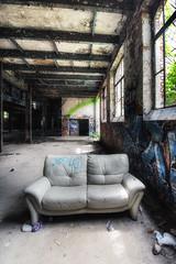 Two Seater (aha42   tehaha) Tags: leipzig sachsen germany de tyskland decay factory sofa explored