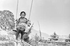 0779 Childhood Under The Himalayas (Hrvoje Simich - gaZZda) Tags: outdoors childhood child children swing game fun girl young nepal asia travel nikon nikond750 nikkor283003556 gazzda hrvojesimich