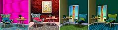 la vida en rosa (JoytiBloom of Second Life) Tags: homelivingsecondlife furniture retro vintage 50s70s classic pink blue green lime red interiordesign vintagefair painting frame chair mesh palegirlproductionsevents