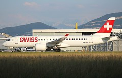 Airbus A220-300. HB-JCO. Swiss LX528. (Themarcogoon49) Tags: swiss bombardier cseries cs300 aircraft planespotting gva lsgg cointrin airport switzerland avgeek aviation