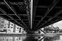 Paris, canal de l'Ourcq, b&w, 4 (Patrick.Raymond (4M views)) Tags: 75019 canal ourcq paris noir et blanc street photo nikon
