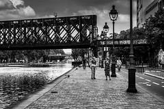 Paris, canal de l'Ourcq, b&w, 9 (Patrick.Raymond (4M views)) Tags: 75019 canal ourcq paris noir et blanc street photo nikon