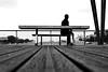 Behind the bench (pascalcolin1) Tags: paris13 homme man banc bench pont bridge seine photoderue streetview urbanarte noiretblanc blackandwhite photopascalcolin 50mm canon50mm canon
