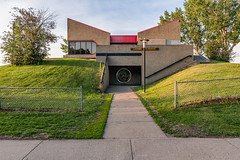 Lacombe Clubhouse, St Albert (WherezJeff) Tags: 1975 alberta brutalism centennial garyfrost kinsmen rcmp stalbert woolfendengrouparchitects architecture brutalist butterflyroof canada ca