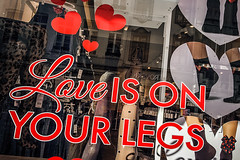 On your legs (Melissa Maples) Tags: brussel bruxelles brussels belgique belgië belgium europe apple iphone iphone6 cameraphone winter loveisonyourlegs sign text window display hearts red
