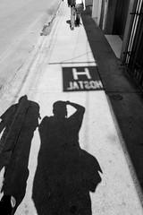 Hostal (Marcos Núñez Núñez) Tags: shadow oaxaca calle streetphotography street bw hostal letrero sombra blackandwhite selfportrait portrait urban