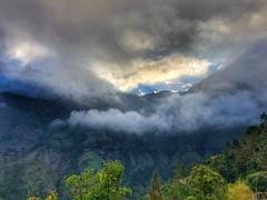 Sunset in Cilaos (Hobbit in shorts) Tags: cloudscape clouds circedecilaos drama landscape mountains mountain sundown sunset cilaos reunion réunion