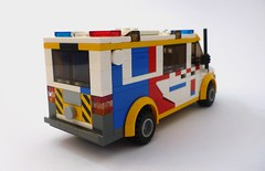 Health Command - Ambulance Victoria (2) (Lonnie.96) Tags: lego brick model moc custom 2018 june 25 australia victoria melbourne ambulance 4wd ses vp police atv rwc rescue water craft car highway patrol ute light blue red white black grey gray yellow lime green wheel van roof surf life saving emergency checker new current local lert lifesaving response team london national health service united kingdom british trial own creation state beach road