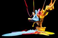 Pigment Punch (Brandon_Hilder) Tags: dancingpaintblobs flash paint paintspeakerdrops studio
