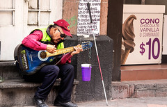 Blind Guitar Player (klauslang99) Tags: streetphotography klauslang man blind guitar player queretaro person beggar
