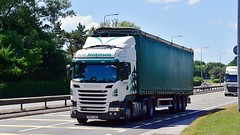 PX65 JOU (Martin's Online Photography) Tags: scania r450 truck wagon lorry vehicle freight haulage commercial transport a580 leigh lancashire nikon nikond7200