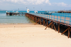 Magnificent Pier At Hainan, China (thedot_ru) Tags: magnificent pier bridge sea ocean water china sands sky clouds travel travels horizonline mountain adventure travelling tourism tourist canon5d 2006