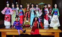 Mulan disney dolls collection (Lindi Dragon) Tags: doll disney disneyprincess disneystore dolls mattel mulan mushu shang collection collector