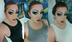 Makeup Fun... (therealdavinawayne74) Tags: dragmakeup drag makeup mascara eyeshadow eyelashes eyeliner lipstick lips blush