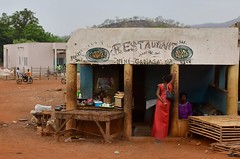 Senegal- near Kedougou- restaurant (venturidonatella) Tags: senegal africa gentes people persone ristorante restaurant colori colors nikon nikond500 d500 strada street streetscene streetlife rosso red kedougou donne donna woman women