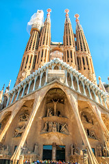 Sagrada Familia (Tony Shertila) Tags: spain architecture art azura barcelna barcelona building catalunia christian church city cruise europe facade goudi outdoor sagradafamilia tourist vacation 20180328112536cruiseshipazorabarcelonalr