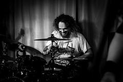 Gisela von Hinten (DickerDackel) Tags: concert deutschpunk gieselavonhinten gig gvh kellerklub konzert livemusic punk stuttgart supportband bw deutschland zeissplanar50mmf14 drummer