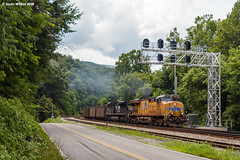 Halfway To the Next One (nrvtrains) Tags: unionpacific christiansburgdistrict 768 coal load lurich norfolksouthern lurichrd narrows virginia unitedstates us