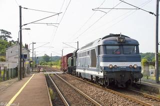 BB67596 + 141 TB 424 - Train 817483 Laval>Guingamp