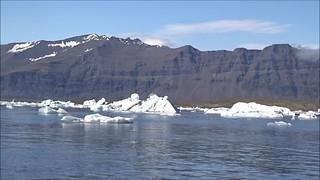 Laguna Jokulsarlon en el glaciar Vatnajokull  Islandia video 03
