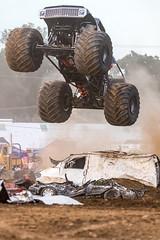 I Believe I can Fly (19_Matt_79) Tags: blue monster truck horsepower dirt motorsport motorsports outdoor racing