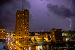 Mother Nature's Freedom & Liberty (dscharen) Tags: aurora illinois fireworks fourthofjuly july4th lightning lightningbolt foxriver river lelandtower