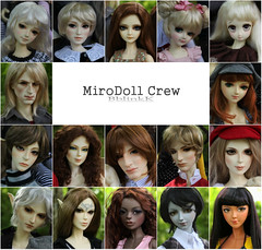 Mirodoll Group Photo (BblinkK) Tags: mirodoll apollo hector orlando thunder wind lightning candy polly lili yaya peng mika jared sally rain annie winnie bjd doll