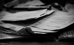 Revision!! (BGDL) Tags: lightroomcc nikkor55200mmf4556g bgdl nikond7000 blackandwhite papers training boring 7dos