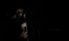 The Things I Want You For (Gianmario Masala [inworld]) Tags: photoshop blur blurry mono monochrome gianmariomasala blackandwhite highandlowkey shadows photograph dark hand aboutyouandme motion grain faces girl woman female man male lips beard piercings metaverse portrait night texture textures