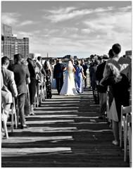 escorting the bride (karma (Karen)) Tags: baltimore maryland fellspoint wedding fdimmaritimepark piers picmonkey selectcolor fancyfocus hss topf25