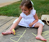 37106262_10214998269862245_8113341703458390016_o (sally_byler) Tags: child little girl people art drawing chalk sidewalk outdoors summer michigan