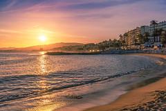 Sunset in Cannes (www.alexandremalta.com) Tags: côted'azur mediterranean alexandremalta sun cloud sky france landscape cityscape seascape sea shoreline beach cannes sunrise sunset