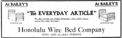 Honolulu Wire Bed Company (UH Manoa Library) Tags: dns chroniclingamerica hawaii newspaper microfilm ndnp history historical news digitization digitisation vintage old historic american hawaiian ad advertisement