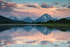 Oxbow Bend (Jeremy Duguid) Tags: grand teton national park tetons mount moran mountain mountains reflection nature landscape jeremy duguid sony flickr wyoming western usa sunset dusk clouds colors