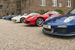 R2 Fronts (syf22) Tags: car automobile auto autocar automotor motor motorcar motorised vehicle porsche porscheclubgb porscheclubgbregion2 pcgb pcgbscottishregion pcgbr2 boxster boxsters boxster981s porscheboxster red guardsred gt3rs 911 991 flatsix flat6 boxerengine rearengine concours