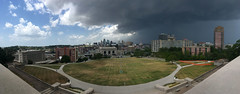 Stormy afternoon in Kansas City (mdhorns) Tags: travel kansascity missouri museum memorial architecture city downtown unionstation storm clouds panoramic