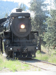 Coming in (jamica1) Tags: summerland kvr kettle valley railway heritage steam okanagan bc british columbia canada 3716