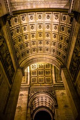 The underside of the Arc de Triomphe.