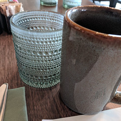 July 12: Table Setting (earthdog) Tags: 2018 glass cup travel businesstravel googlepixel pixel androidapp moblog hotel restaurant carlsbad sheraton cameraphone project365 3652018 squareformat