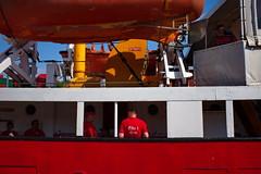 Men In Red (RadarO´Reilly) Tags: travemünde germany feuerschiff elbe1 schiff ship rot red hafen harbour