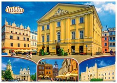 Lublin from anastazja7 (elligerra) Tags: lublin cityview city buildings oldtown architecture postcrossing postcard poland